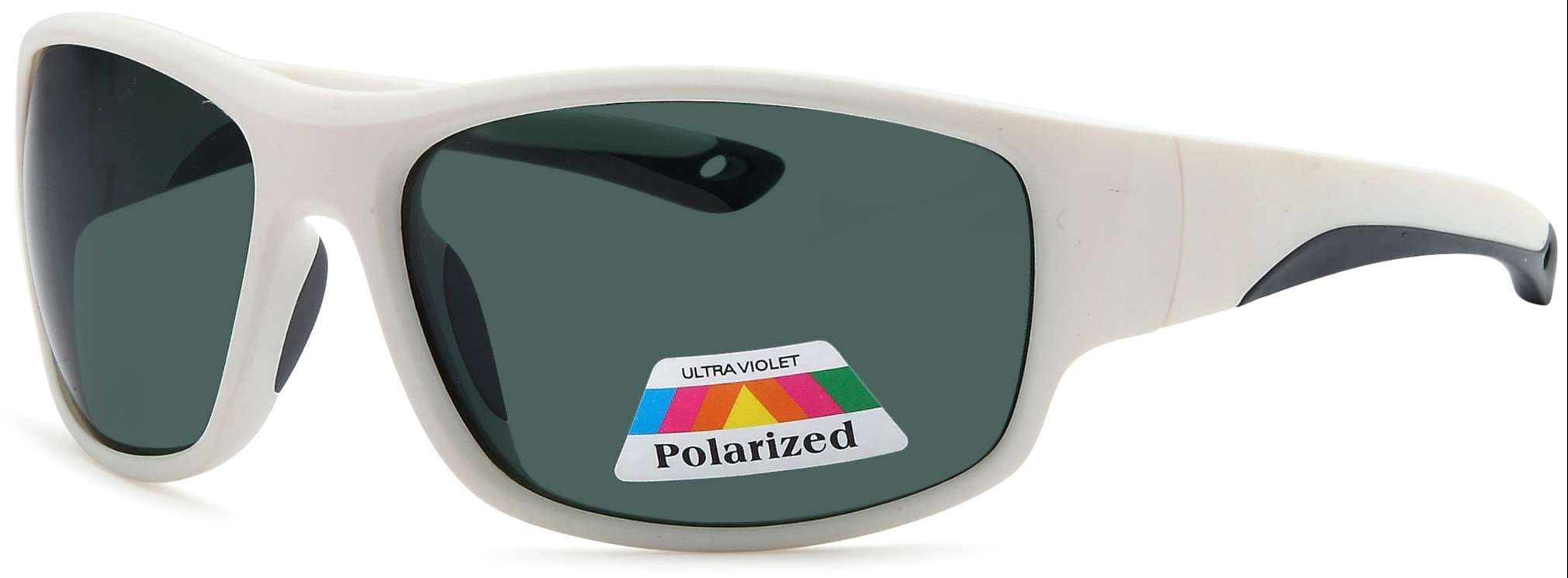 white frame polarized sunglasses